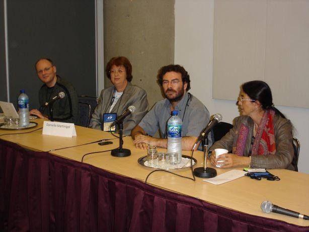Laurent Genefort, Danièle Martinigol, Stéphane Marsan (modérateur), Jeanne-A Debats